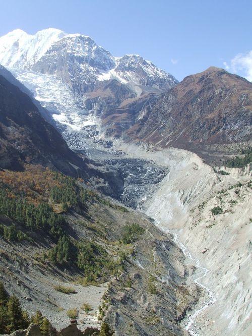 glacier himalayan nepal