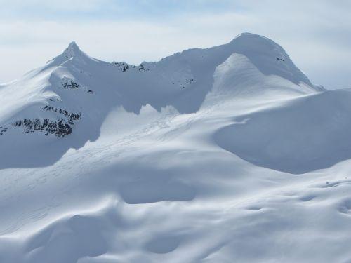 glacier canada mountains winter