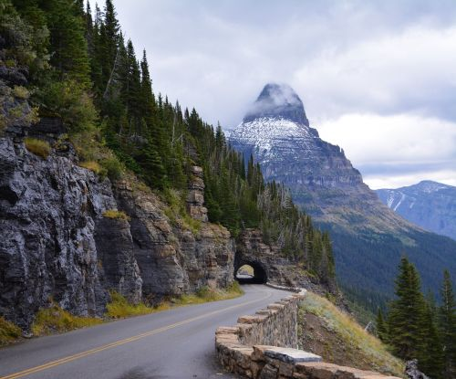 glacier national park park road