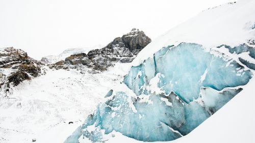 glaciers crevasse mountains