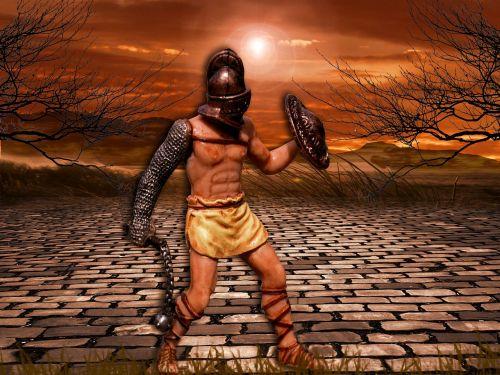 gladiator fighter fight
