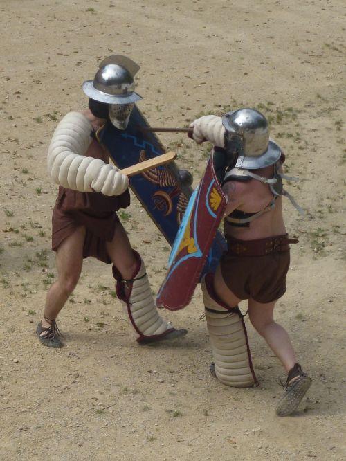 gladiator romans fight