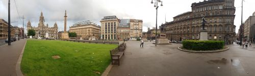 glasgow george square panorama