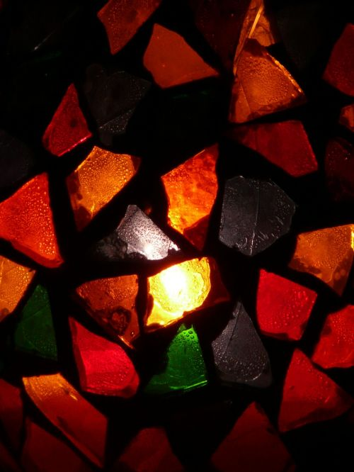 glass colorful light