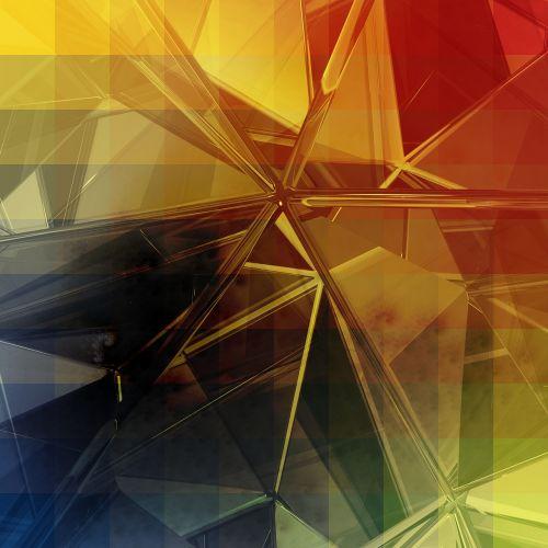 glass diamond abstract