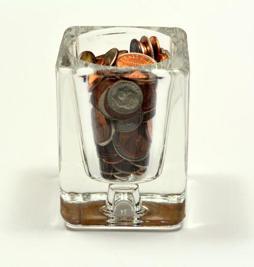 glass change money