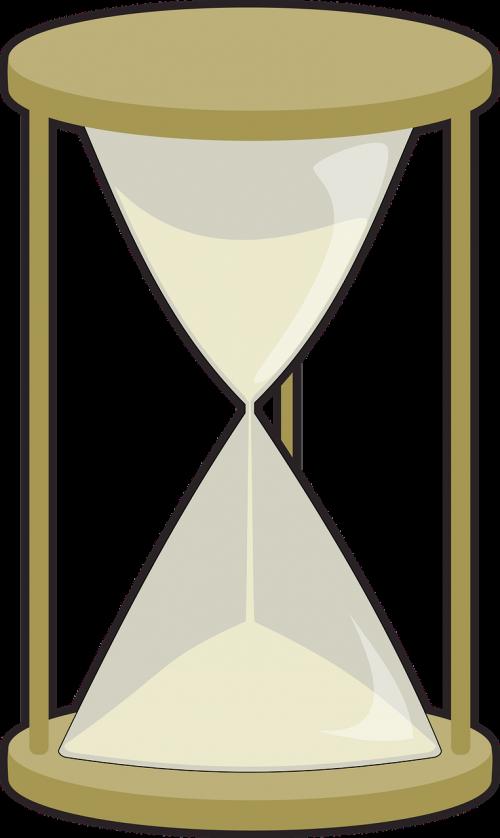 glass hourglass sand
