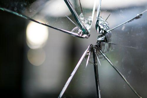 glass broken fragmented