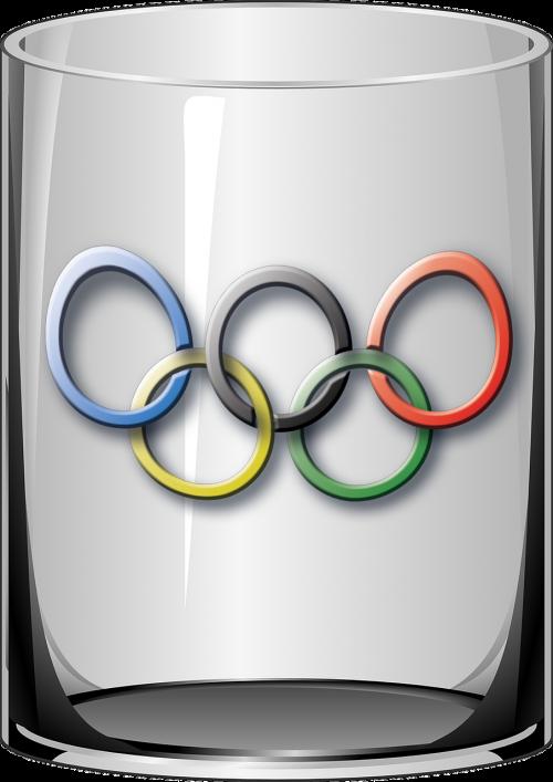 glass olympics circles
