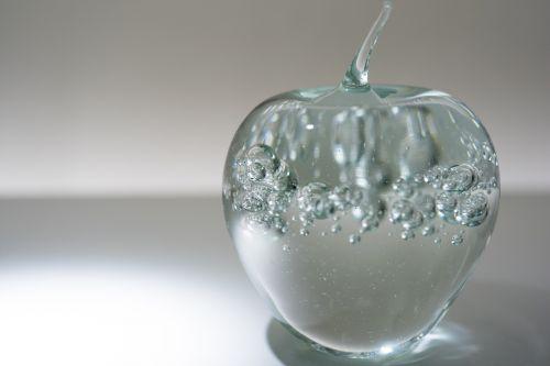 glass apple decoration