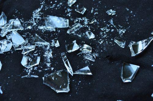glass broken shattered