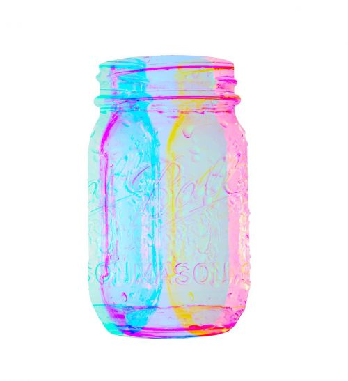 glass jar abstract