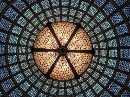 glass ceiling light