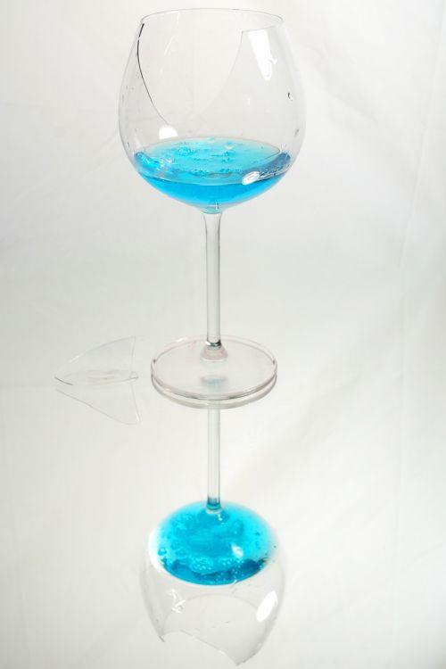 glass blue break