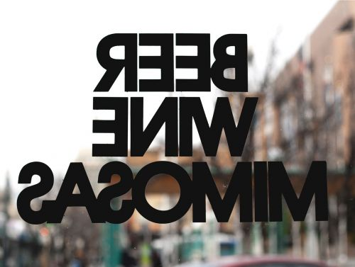 glass wall typography