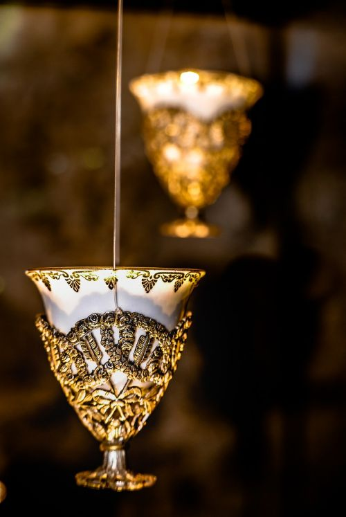 glass ancient gold