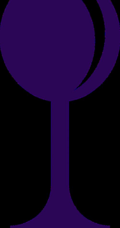 glass wine purple