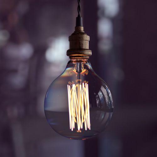 glass illuminated lamp
