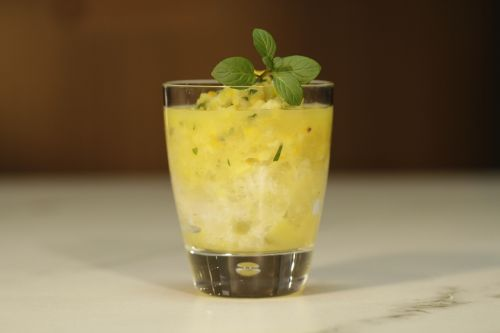 glass fruit drink