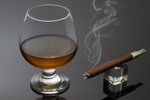 glass  cognac  alcohol