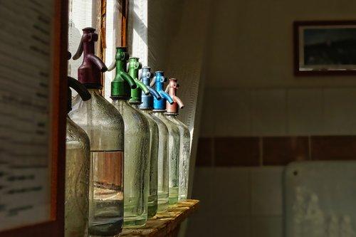glass  soda water  soda water bottles