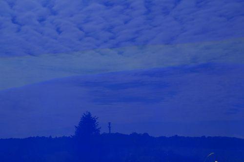 glass mirroring blue