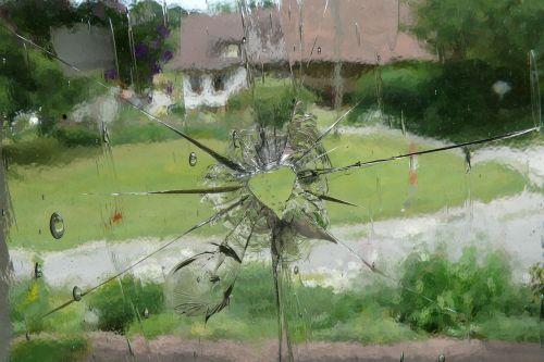 glass heart window