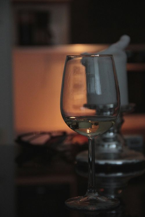 glass wine evening