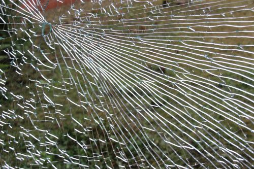 glass window fragmented