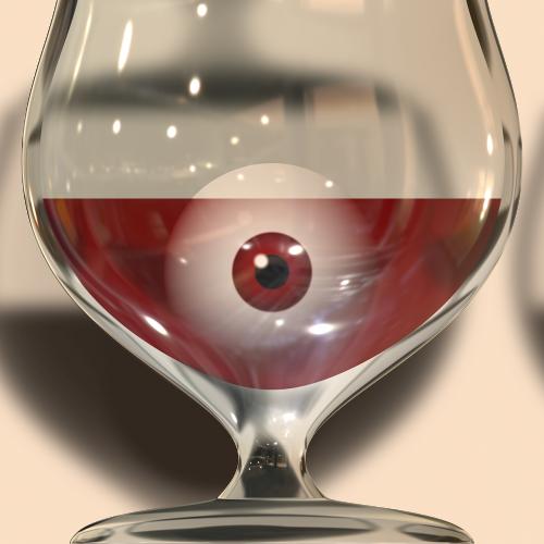glass wine eye