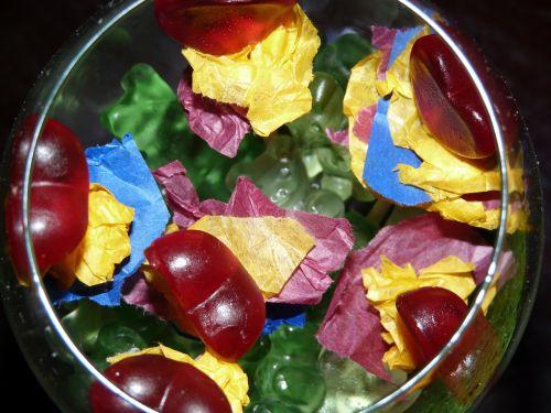 stiklas,saldainiai,saldumas,spalvinga,dovanos,vyno taurė,vaisių želė,atiduoti,gimtadienis,spalva