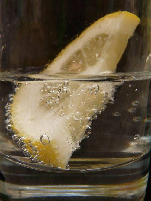 glass drink lemon