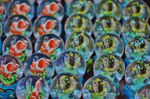 glass bubbles blue