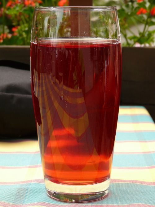 glass drink fruit juice