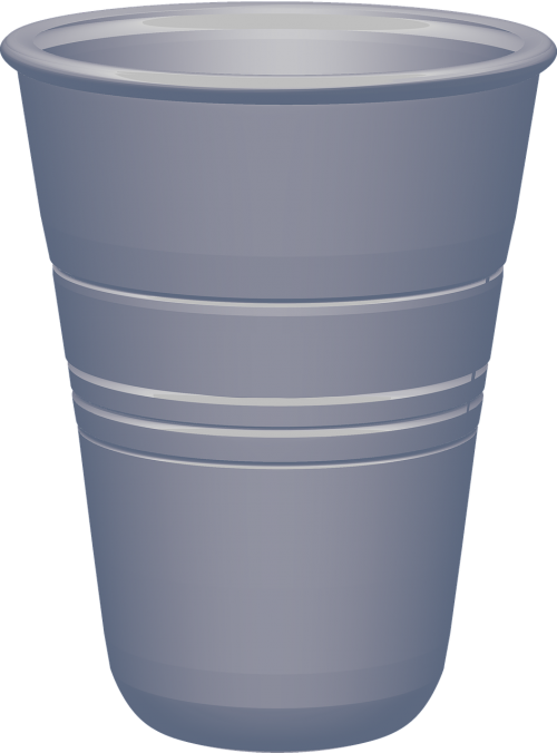 glass plastic cup vessel for carrying