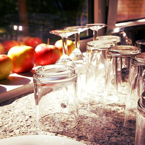 glass sunlight countertop
