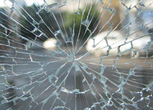 glass window broken