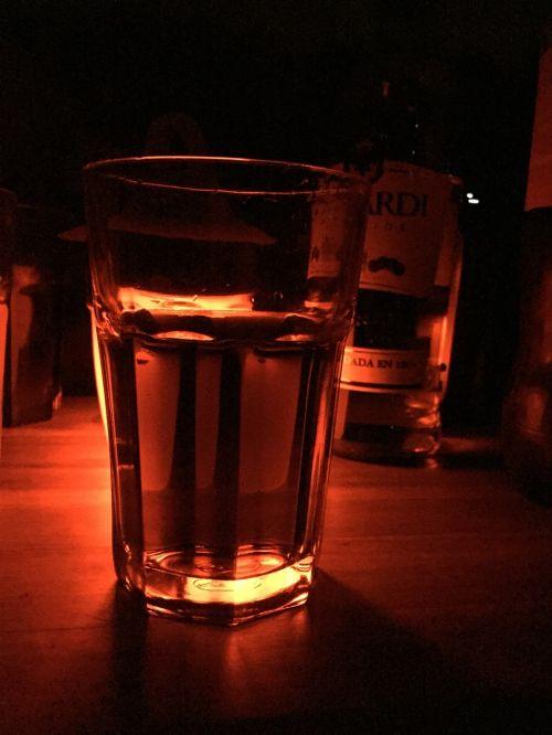 glass rum drink