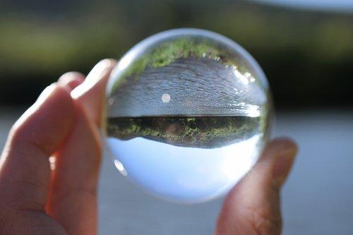 glass ball  spring  summer