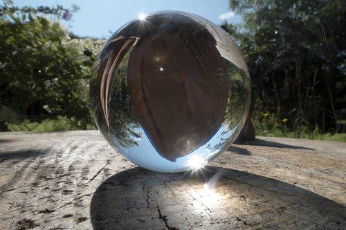 glass ball  magnifying glass  smoke