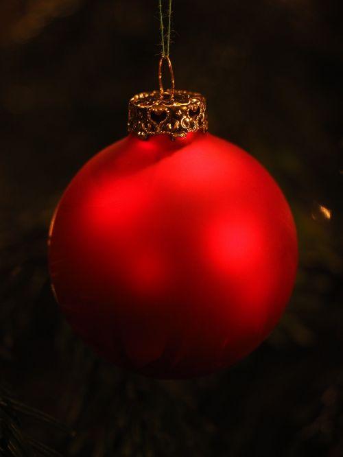 glass ball red christmas