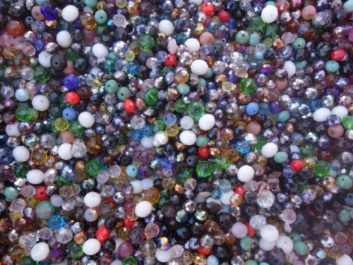 glass beads many colorful