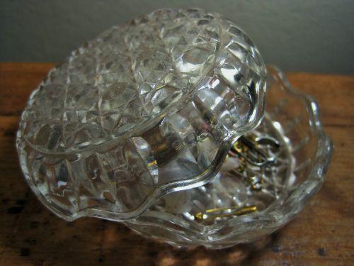 Glass Bowl With Bric-a-brac