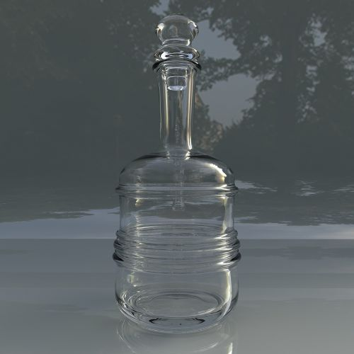 glass carafe for water bottle