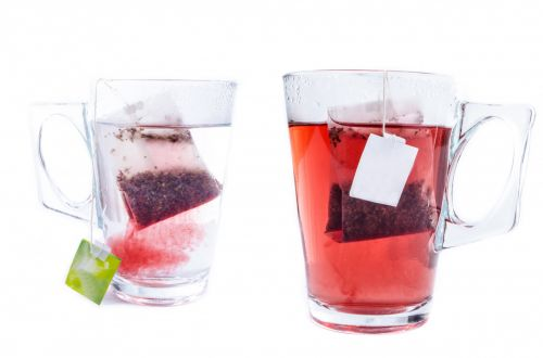 Glass Cups With Teabag
