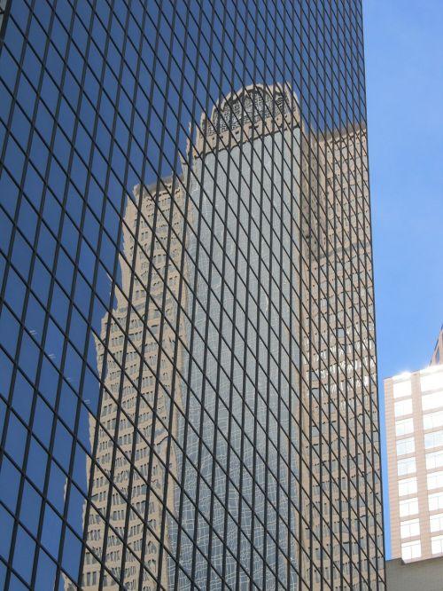 glass facade windows reflection