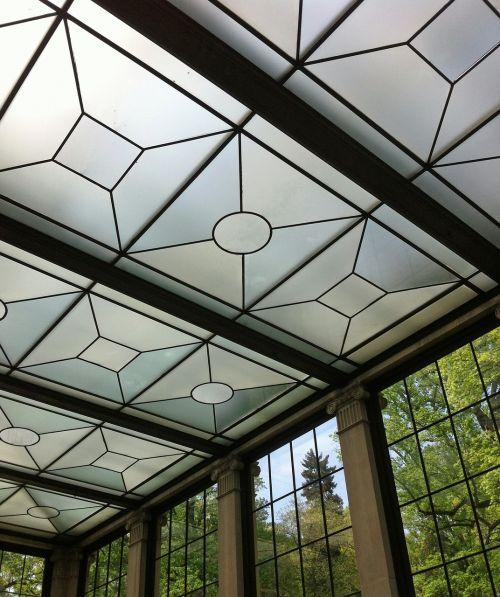 glass items window modern