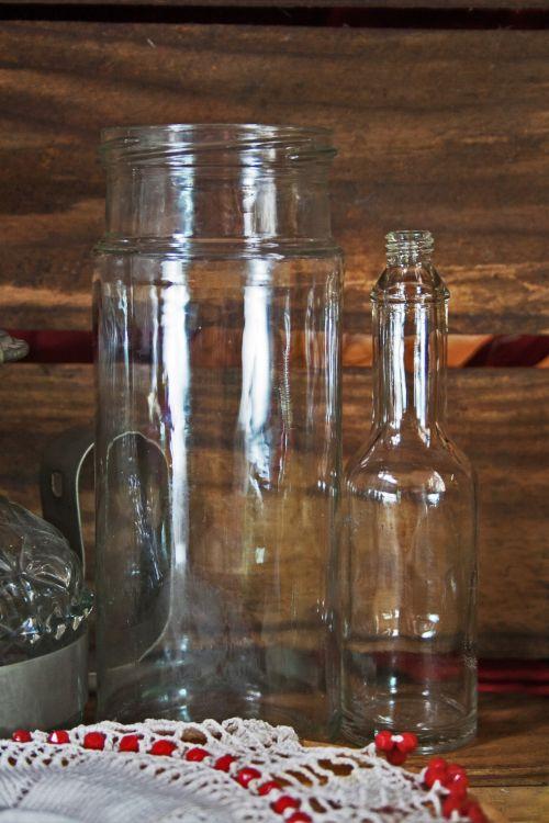 Glass Jars With Doily