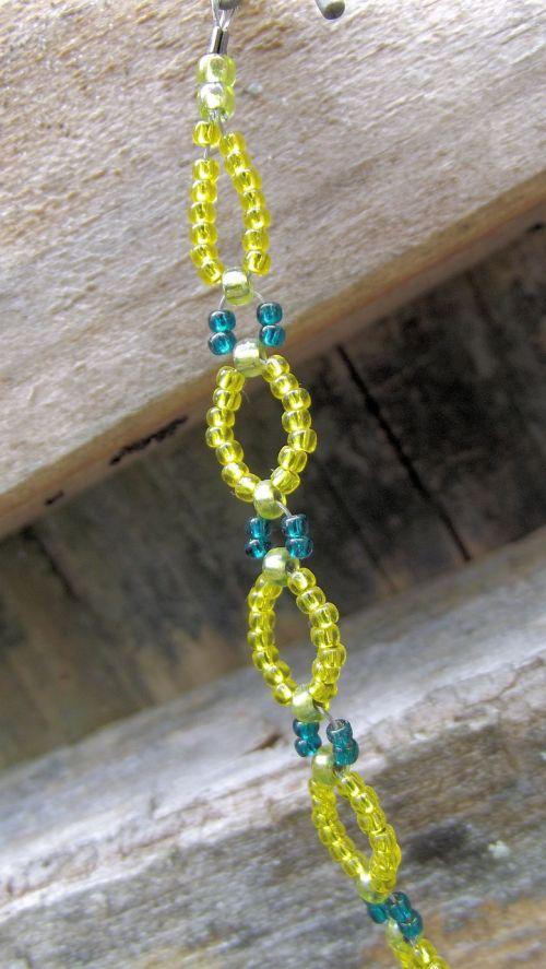 glass seed beads micro bracelet