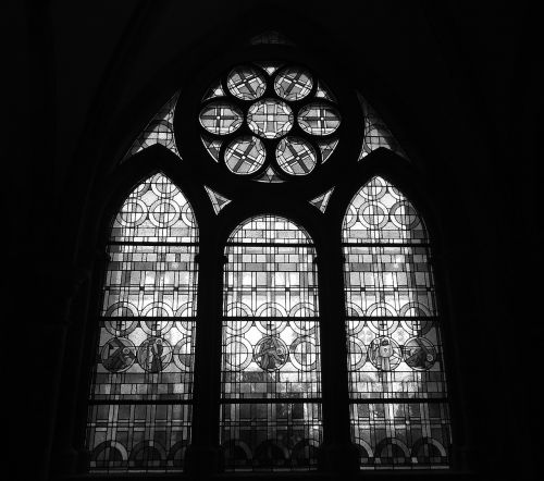 glass window trier cathedral cloister
